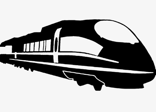 500x359 Black High Iron Driving Silhouette, Silhouette, Bullet Train