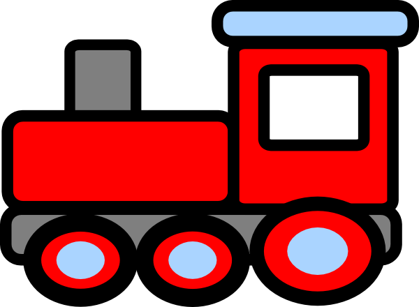 600x440 Box Train Engine Clip Art