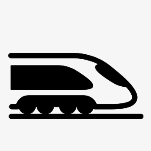 500x500 Silhouette Of High Speed Rail, Train, Train Silhouette, Silhouette