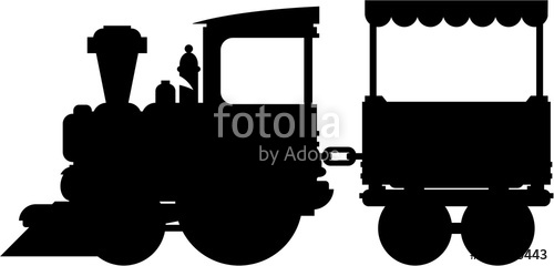 500x240 Cartoon Toy Train In Silhouette Stock Image And Royalty Free