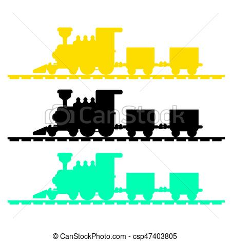 450x470 Image Of Train Silhouette Vector Isolated On White Vector