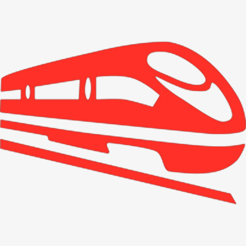 500x500 Red High Iron Silhouette, Train, Vehicle, High Speed Train Png