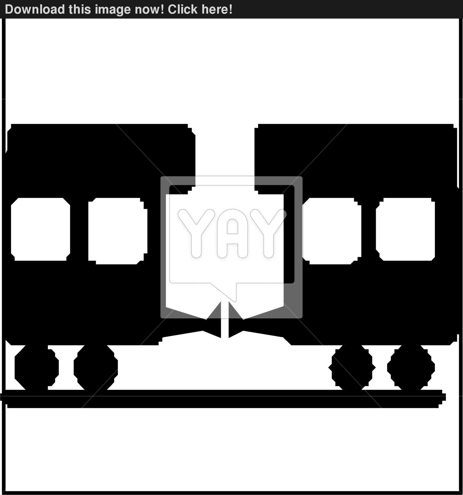 1497x1600 Train Silhouette Vector