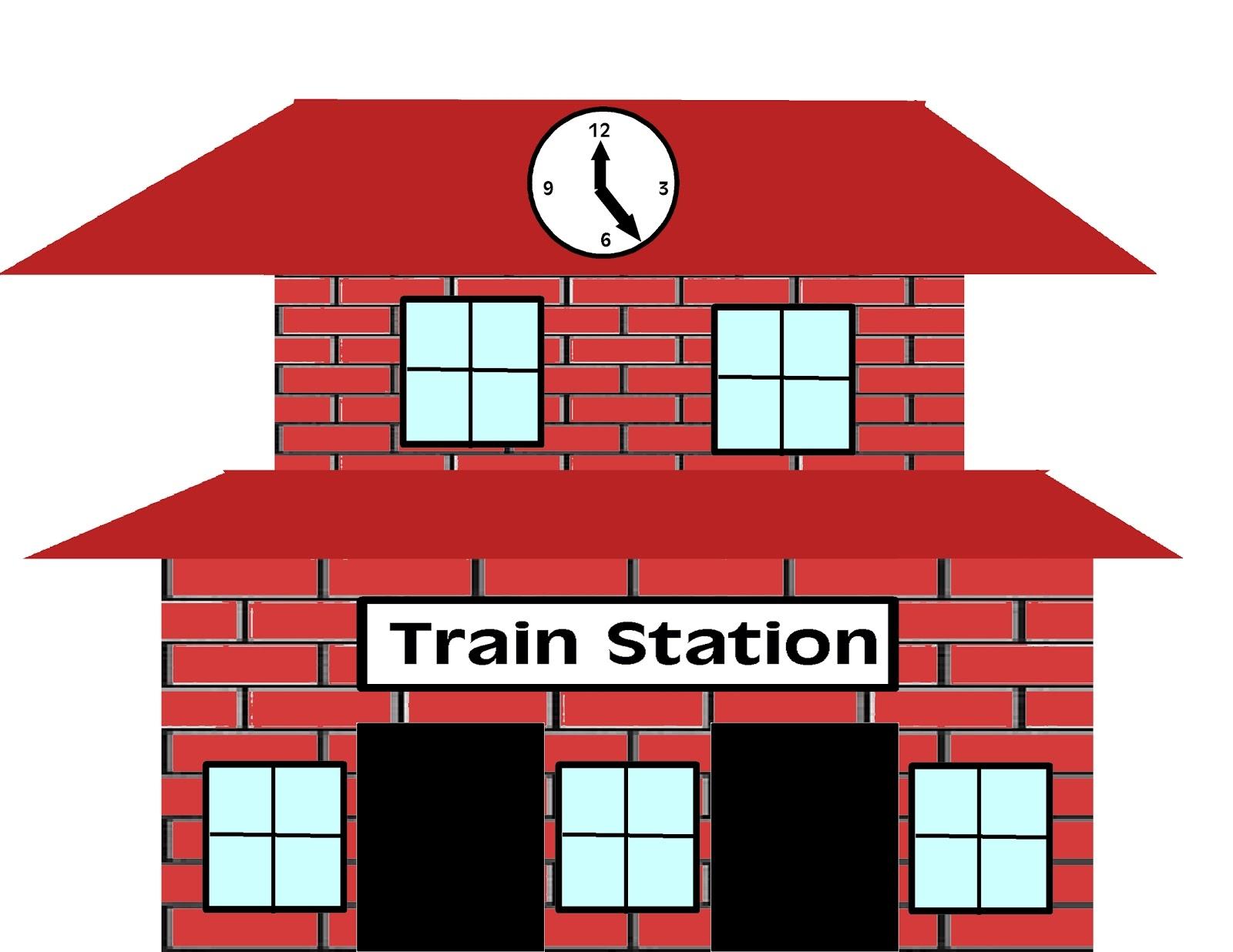 1600x1236 Train Depot Clipart