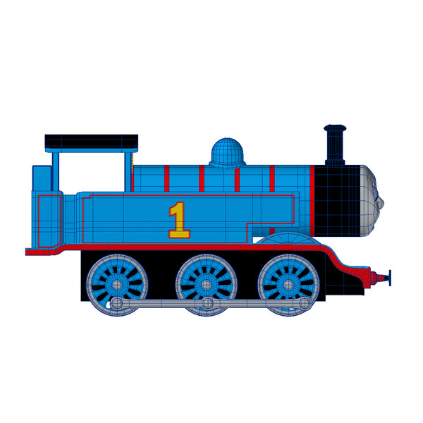 600x600 Train Clipart Side View