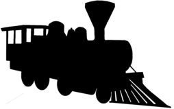 254x159 Railroad Silhouettes Reproduction Vintage Signs