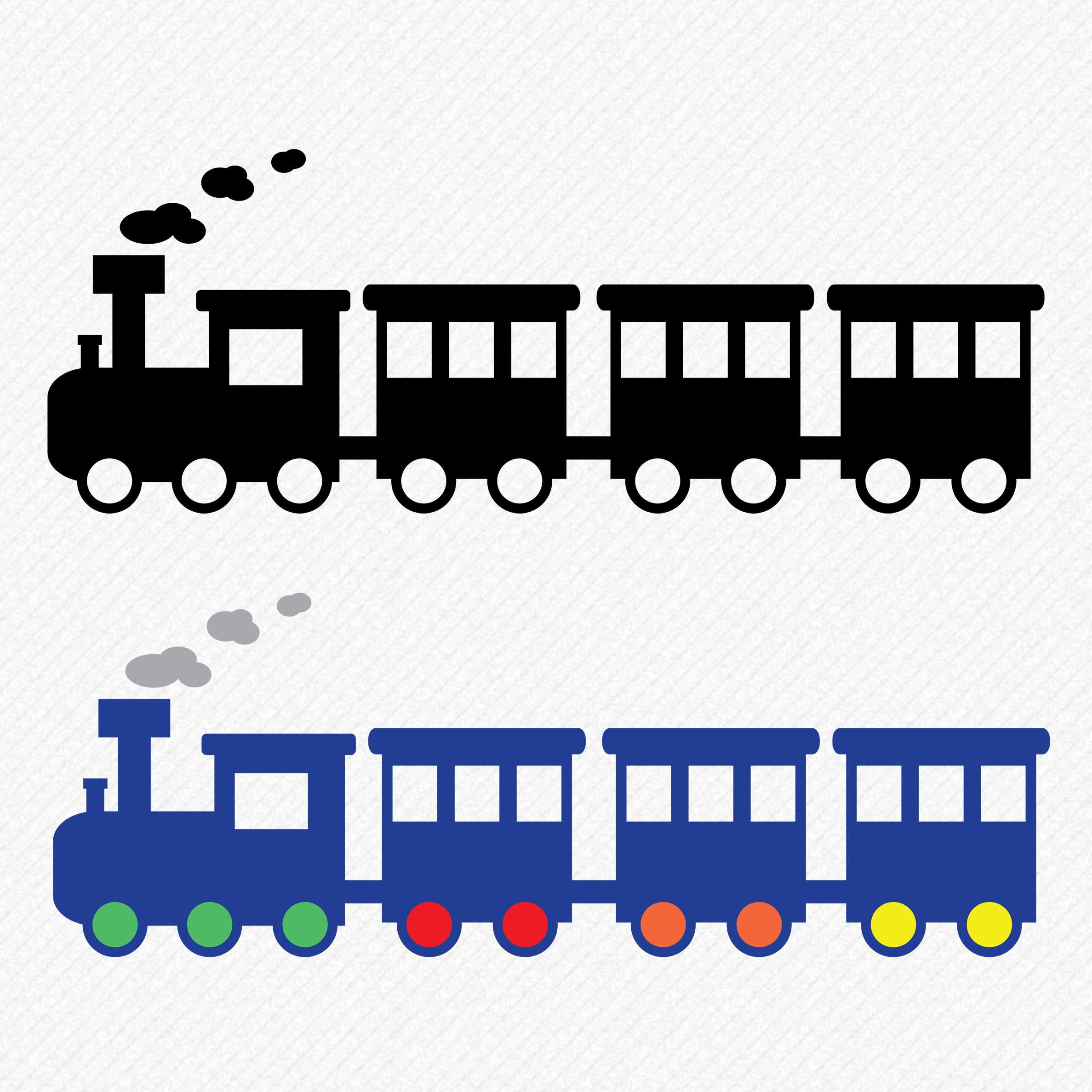 2375x2375 Train Silhouette, Train Svg, Train Clipart, Train Vector, Train