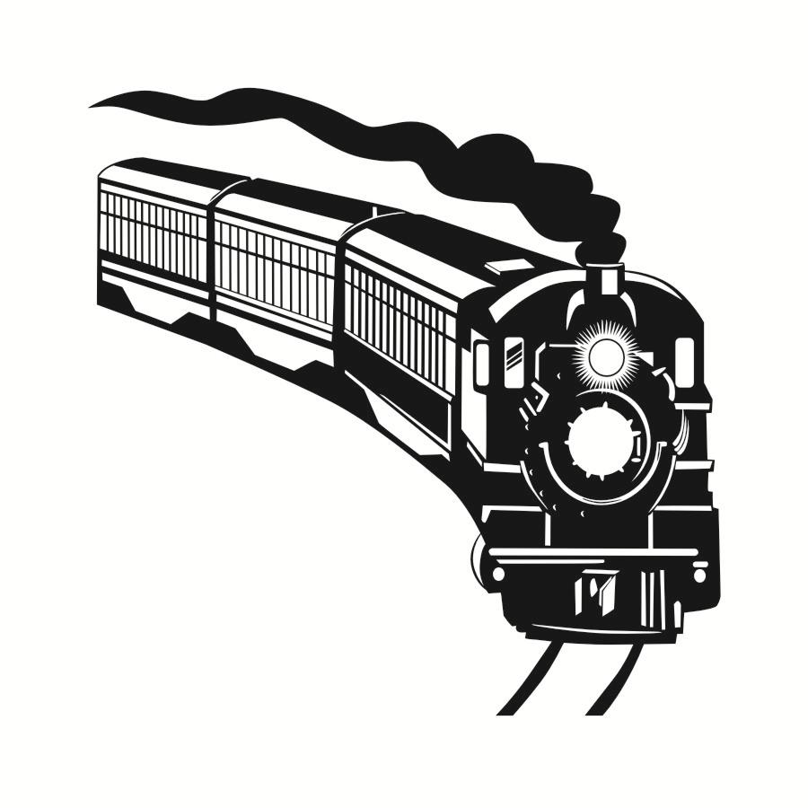 900x900 Train Silhouette Wall Decals Army Locomotive Home Decor Vinyl