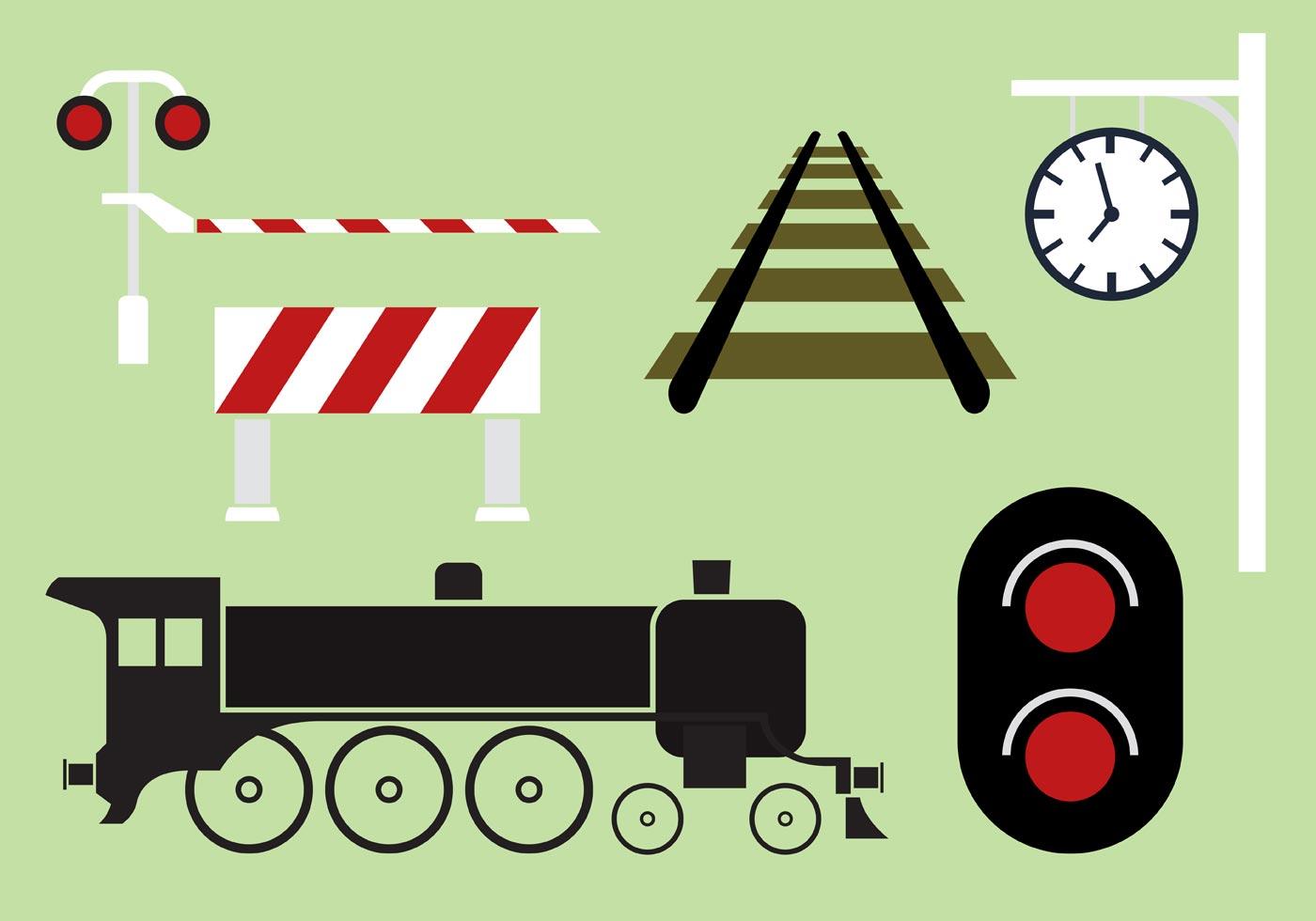 1400x980 Railway Vector Collection