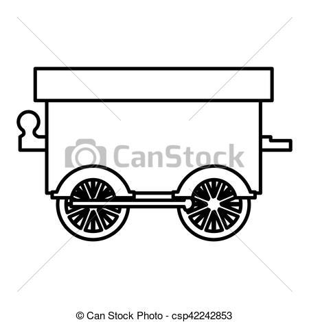 450x470 Silhouette Wagon Train Toy Icon Vector Illustration Clipart Vector