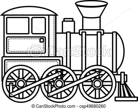 450x356 Vintage Train. Children's Toy. Christmas Decorations . Clip Art
