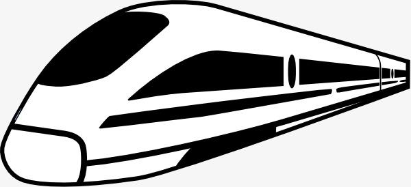 600x274 Black Iron Silhouette, Silhouette, Black Train Png Image