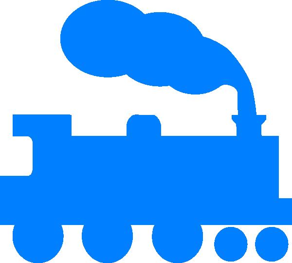 600x540 Blue Train Silhouette Clip Art