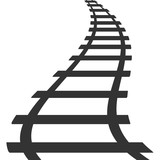 160x160 Railroad Icon Train Sign Track Road Symbol Railway Stock Footage