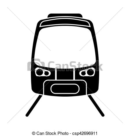 450x470 Silhouette High Speed Train Passenger Rail Road Vector Vector