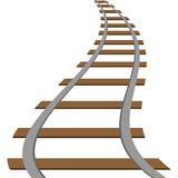 160x160 Locomotive Railroad Silhouette Track Railway Transit Route Icon
