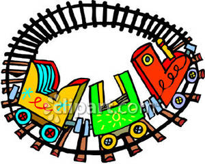 300x240 Train Track Clipart 64102723 Curving Train Track Rail Track