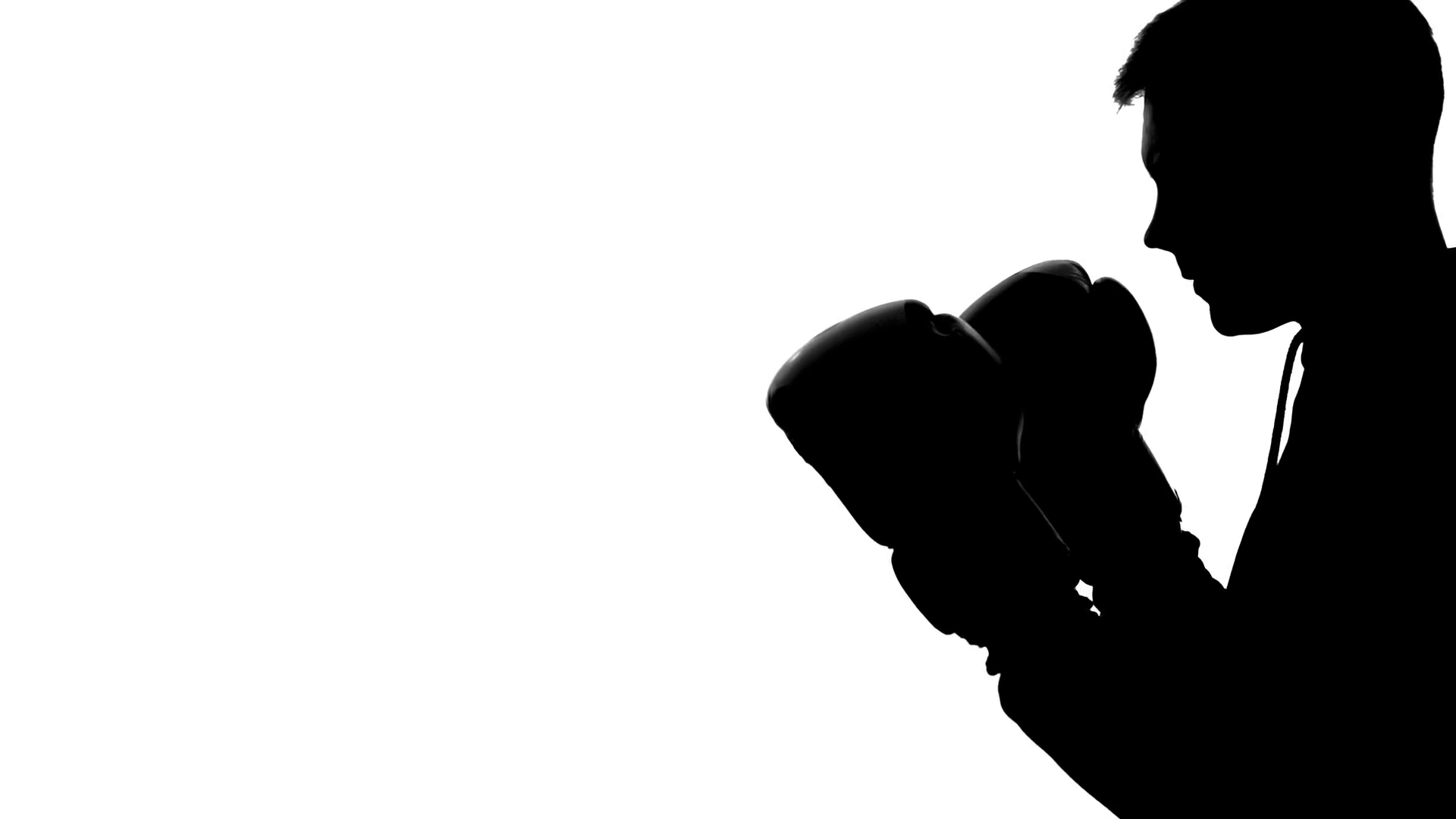 1920x1080 Silhouette Of Athletic Man In Sports Suit Training In Gym, Shadow