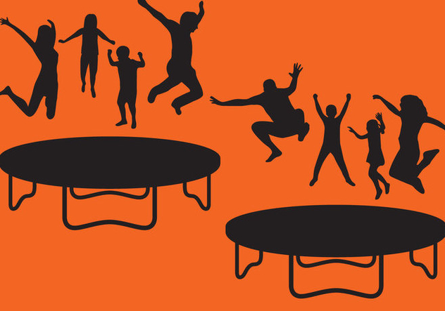 632x443 Trampoline Silhouettes Free Vector Download 366971 Cannypic