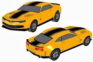 300x200 Cut File Transformers 3d Camaro Bumblebee Silhouette Ebay
