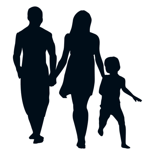 512x512 Family With Child Silhouette