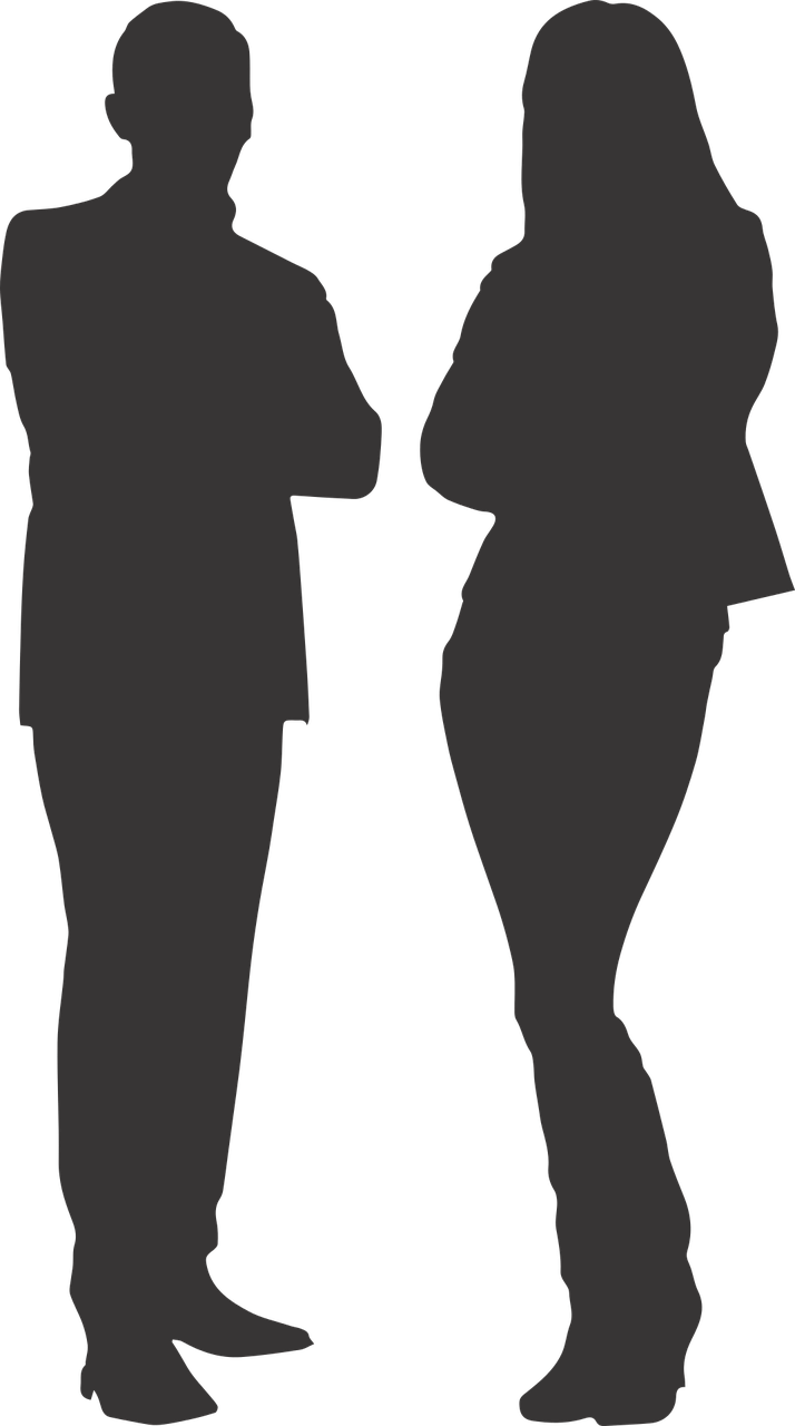 714x1280 Silhouette Man And Woman Transparent Png