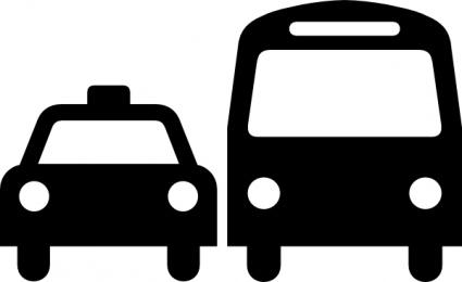 425x260 Ground Transportation Symbol Sign Clip Art Vector, Free Vector