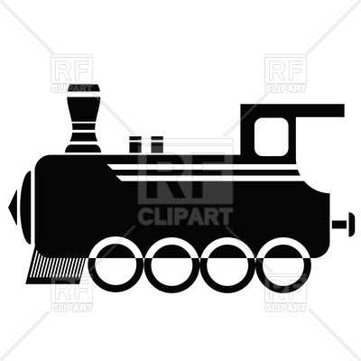 400x400 Silhouette Of Old Locomotive