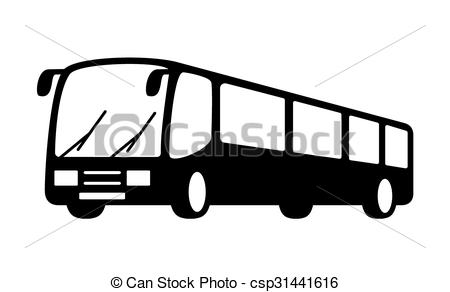 450x292 Bus Silhouette Vector Clipart Eps Images. 6,994 Bus Silhouette