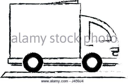 450x297 Blurred Silhouette Small Automobile Vehicle Transport Stock Vector