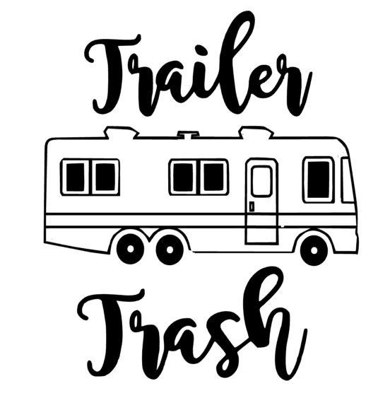 552x563 Trailer Trash Decal Garbage Can Camper Trash Can Funny Rv