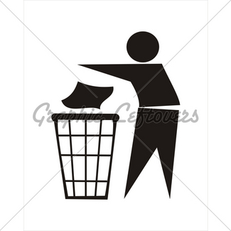 325x325 Trash Sign Gl Stock Images