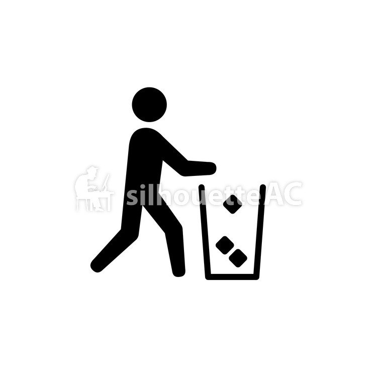 750x750 Free Silhouettes Trash Can, Icon