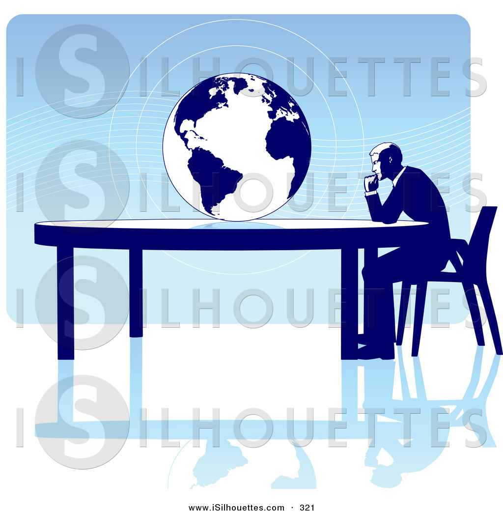1024x1044 Silhouette Clipart Of A Thinking Businessman Seated