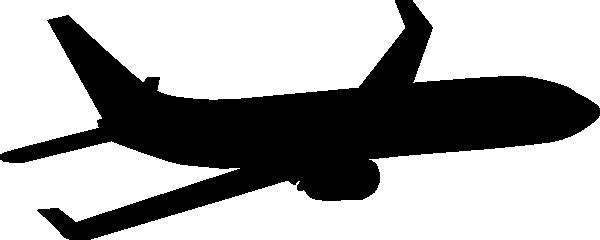600x240 Silhouette Clipart Plane