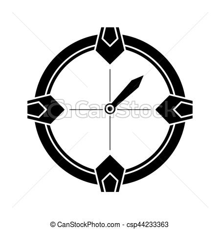 450x470 Silhouette Compass Location Gps Tool Travel Vector Clip Art