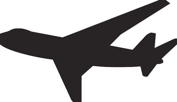596x344 Airplane, Vacation, Outline, Travel, Flight, Aeronautical