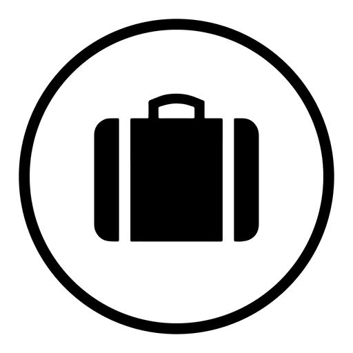 512x512 Travel Airport Round Icon Silhouette