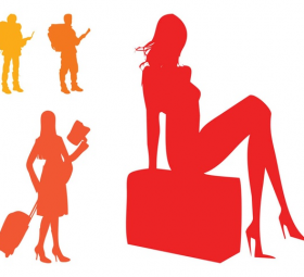 280x255 Travel Silhouette Search Results Free Vector Graphics