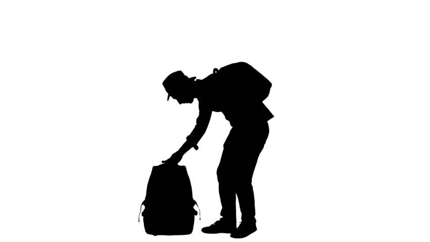 852x480 Executive Passenger Man Silhouette Bag