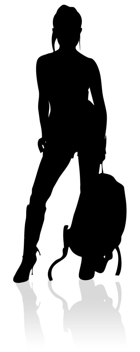 476x1198 Free Travel Silhouette Stock Photo