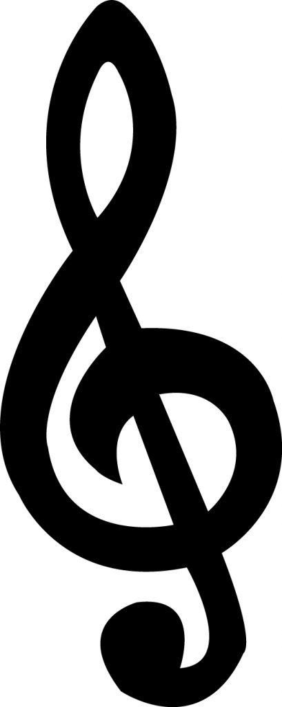 Treble Clef Silhouette At Getdrawings Free For Personal Use