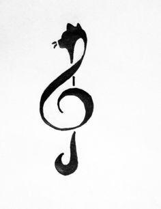 236x306 Cat Treble Clef Tattoo Tattoo Treble Clef Tattoo