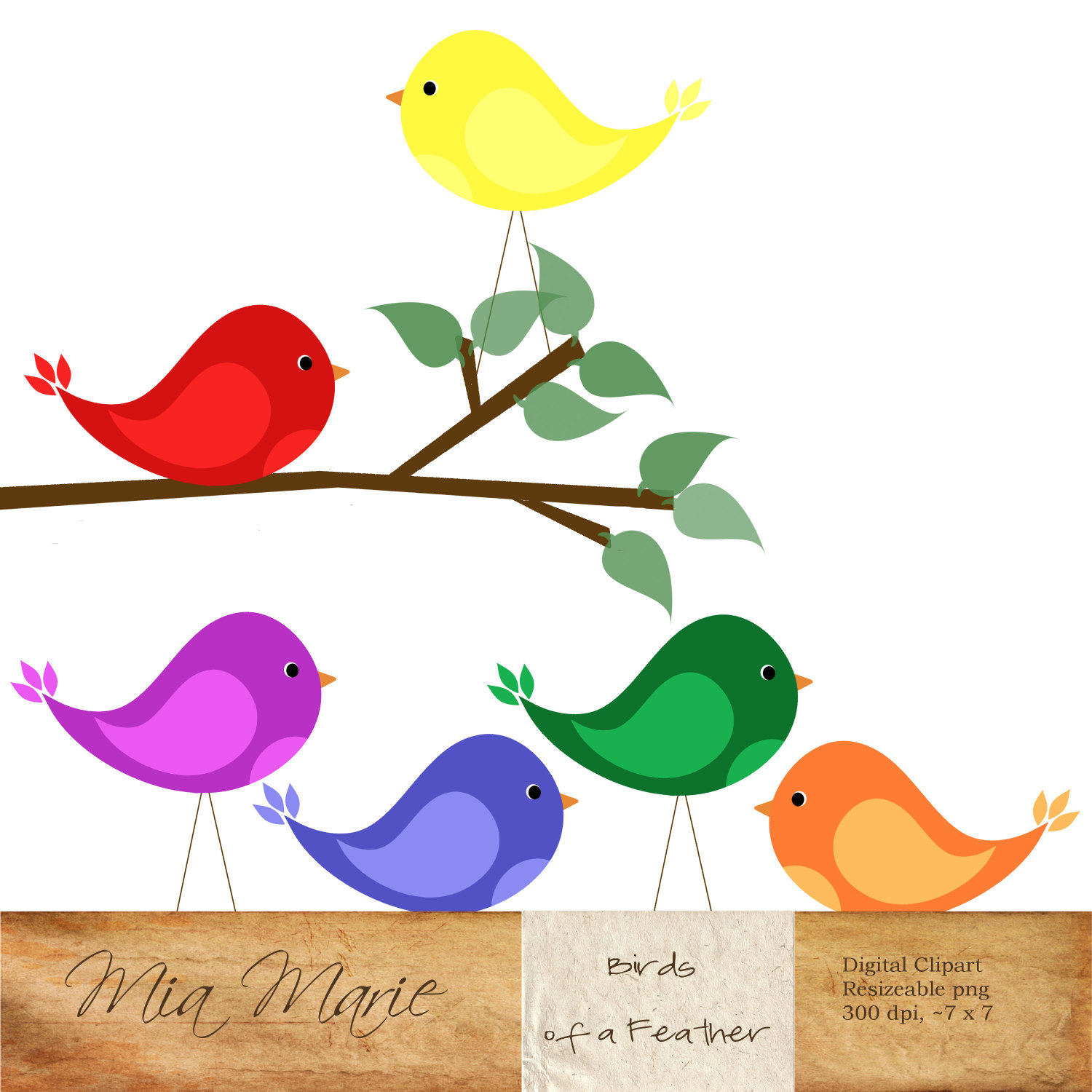 1500x1500 Illustration Clipart Tree Bird Silhouette Pencil And In Color