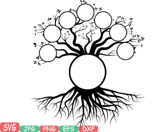 570x463 Family Tree Svg Word Art Cutting Files Family Tree Deep Roots