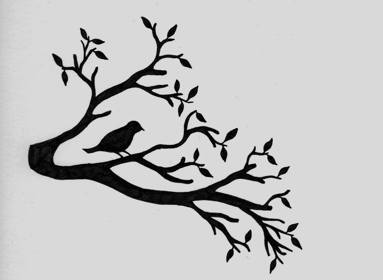 Tree Bird Silhouette
