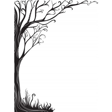 390x390 Shadow Of A Tree Clipart