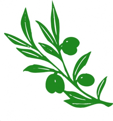 397x425 Olive Tree Branch Clip Art Vector, Free Vector Graphics
