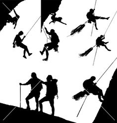 236x248 Climber Vector Silhouette Silhouettes Clipart Silhouettes