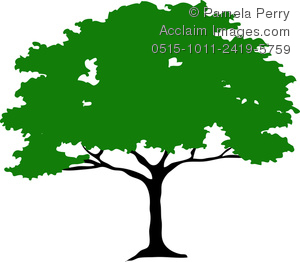 300x262 Art Image Of A Silhouette Of An African Umbrella Thorn Tree